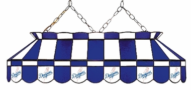 Los Angeles Dodgers 40 Inch Rectangular Stained Glass Billiard Light