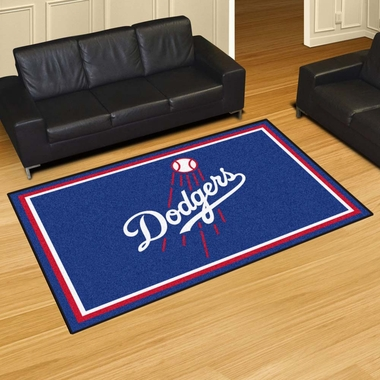Los Angeles Dodgers 5 Foot x 8 Foot Rug