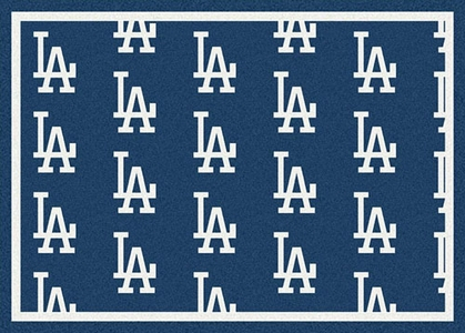"Los Angeles Dodgers 7'8 x 10'9"" Premium Pattern Rug"