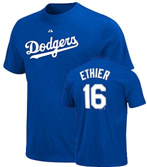 Los Angeles Dodgers Andre Ethier Name and Number T-Shirt