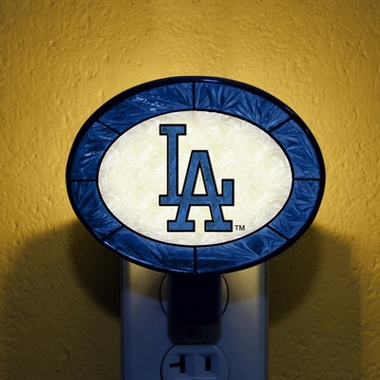Los Angeles Dodgers Art Glass Night Light