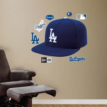 Los Angeles Dodgers Ballcap Fathead Wall Graphic
