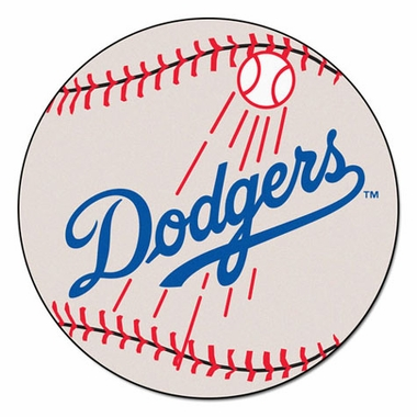 Los Angeles Dodgers 27 Inch Baseball Shaped Rug
