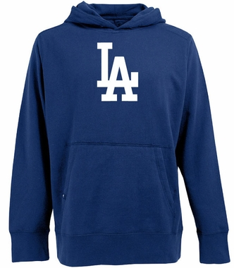 Los Angeles Dodgers Big Logo Mens Signature Hooded Sweatshirt (Team Color: Royal)