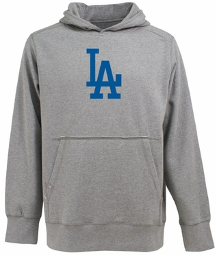 Los Angeles Dodgers Big Logo Mens Signature Hooded Sweatshirt (Color: Gray)