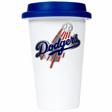 Los Angeles Dodgers Ceramic Travel Cup (Team Color Lid)
