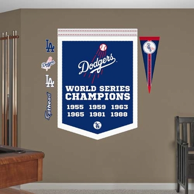 Los Angeles Dodgers Championship Banner Fathead Wall Graphic