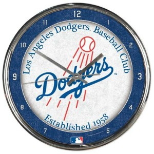 Los Angeles Dodgers Round Chrome Wall Clock