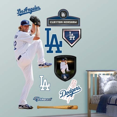 Los Angeles Dodgers Clayton Kershaw Fathead Wall Graphic