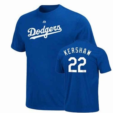 Los Angeles Dodgers Clayton Kershaw Player T-Shirt - Royal