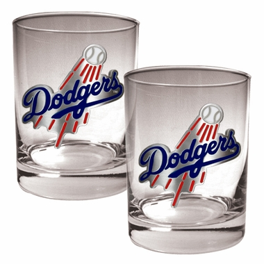 Los Angeles Dodgers Double Rocks Set