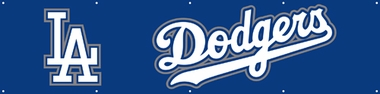 Los Angeles Dodgers Eight Foot Banner
