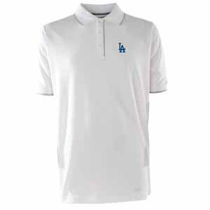 Los Angeles Dodgers Mens Elite Polo Shirt (Color: White) - X-Large
