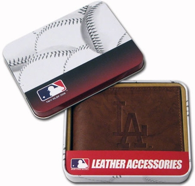 Los Angeles Dodgers Embossed Leather Bifold Wallet