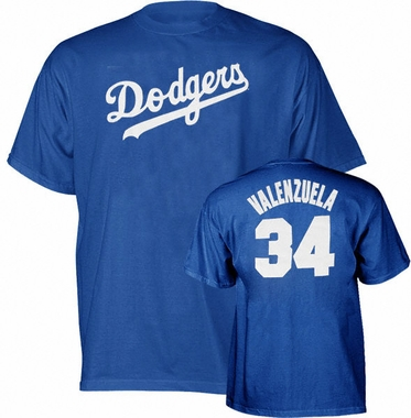 Los Angeles Dodgers Fernando Valenzuela Name and Number T-Shirt