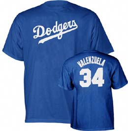Los Angeles Dodgers Fernando Valenzuela Name and Number T-Shirt - XX-Large