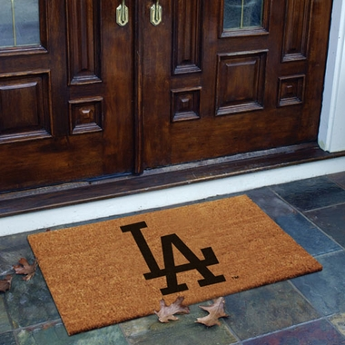 Los Angeles Dodgers Flocked Coir Doormat