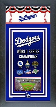 Los Angeles Dodgers Framed Championship Banner