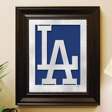 Los Angeles Dodgers Framed Laser Cut Metal Wall Art