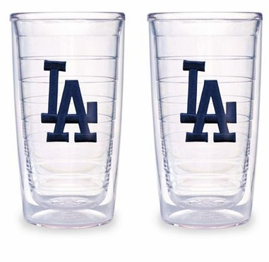 "Los Angeles Dodgers (LA) Set of TWO 24 oz. ""Big T"" Tervis Tumblers"