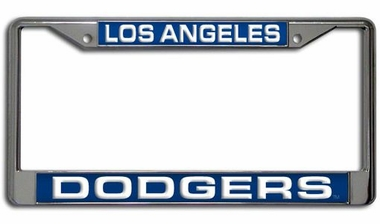 Los Angeles Dodgers Laser Etched Chrome License Plate Frame