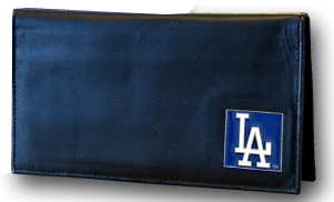 Los Angeles Dodgers Leather Checkbook Cover (F)