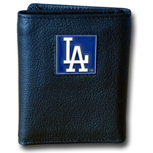 Los Angeles Dodgers Leather Trifold Wallet (F)