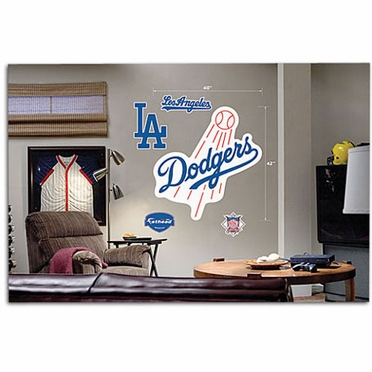 Los Angeles Dodgers Logo Fathead Wall Graphic
