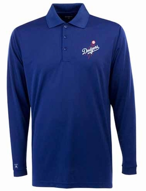 Los Angeles Dodgers Mens Long Sleeve Polo Shirt (Team Color: Royal)