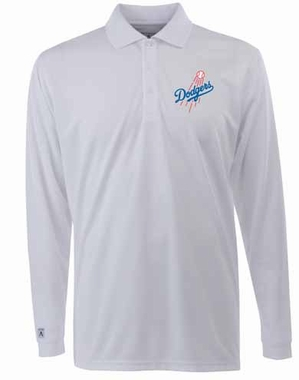 Los Angeles Dodgers Mens Long Sleeve Polo Shirt (Color: White)