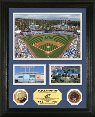 "Los Angeles Dodgers Los Angeles Dodgers Infield Dirt Coin ""Showcase"" Photo Mint"