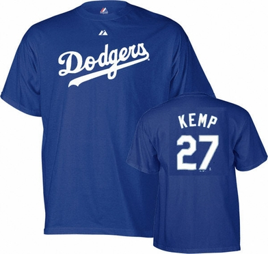 Los Angeles Dodgers Matt Kemp Name and Number T-Shirt
