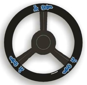 Los Angeles Dodgers Steering Wheel Cover - Leather