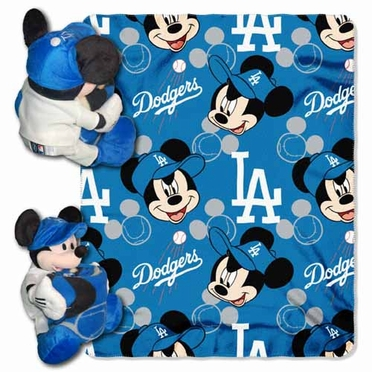 Los Angeles Dodgers Mickey Mouse Pillow / Throw Combo