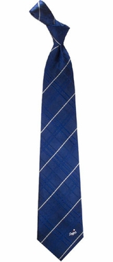 Los Angeles Dodgers Oxford Stripe Woven Silk Necktie
