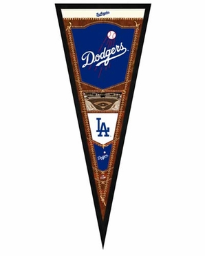 """Los Angeles Dodgers Pennant Frame - 13""""x33"""" (No Glass)"""