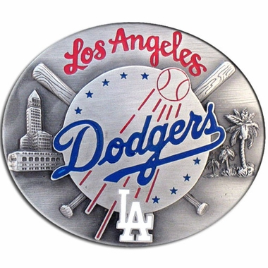 Los Angeles Dodgers Enameled Belt Buckle
