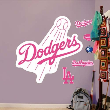 Los Angeles Dodgers Pink LogoFathead Wall Graphic