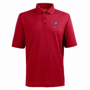 Los Angeles Dodgers Mens Pique Xtra Lite Polo Shirt (Color: Red)