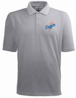 Los Angeles Dodgers Mens Pique Xtra Lite Polo Shirt (Color: Gray)