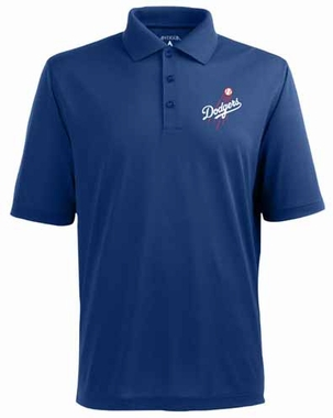 Los Angeles Dodgers Mens Pique Xtra Lite Polo Shirt (Team Color: Royal)