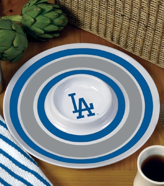 Los Angeles Dodgers Plastic Chip and Dip Plate