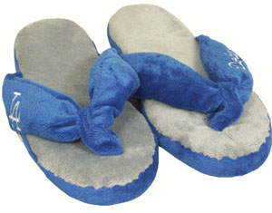Los Angeles Dodgers Plush Thong Slippers