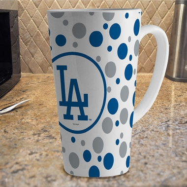 Los Angeles Dodgers Polkadot 16 oz. Ceramic Latte Mug