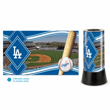 Los Angeles Dodgers Rotating Lamp