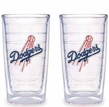 Los Angeles Dodgers (Script) Set of TWO 16 oz. Tervis Tumblers