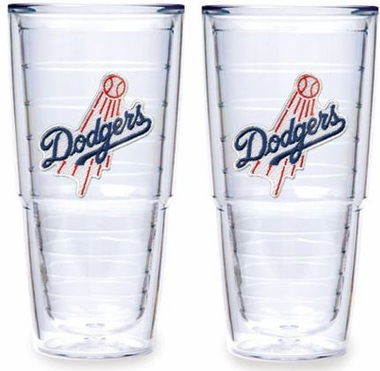 "Los Angeles Dodgers (Script) Set of TWO 24 oz. ""Big T"" Tervis Tumblers"