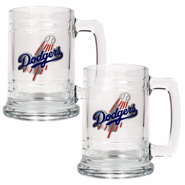 Los Angeles Dodgers Set of 2 15 oz. Tankards
