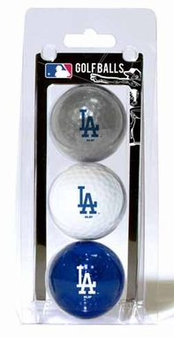 Los Angeles Dodgers Set of 3 Multicolor Golf Balls