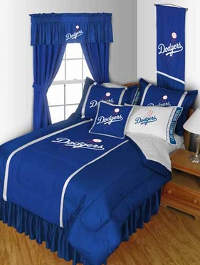 Los Angeles Dodgers SIDELINES Jersey Material Comforter